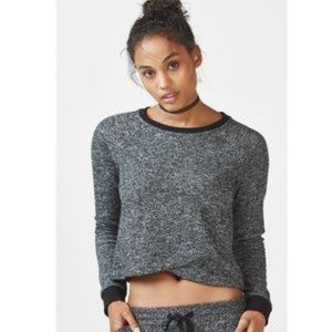 FABLETICS 'Keeva' Marled French Terry Pullover M